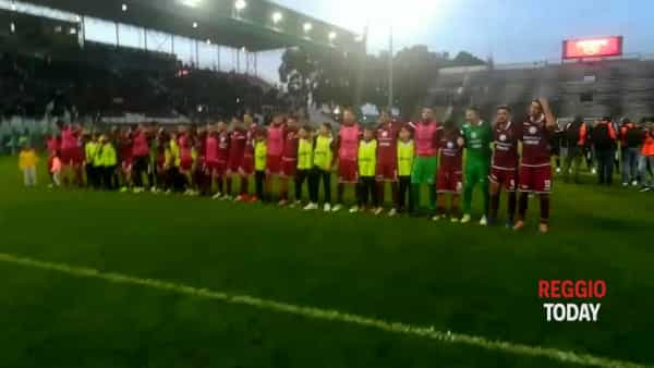 VIDEO | Reggina vs Casertana, il coro dei giocatori amaranto sotto la sud del Granillo