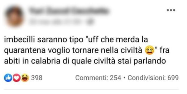 post facebook - insulto calabria-2